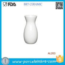 Simple Elegant Design Whie Porcelain Ceramic Vase