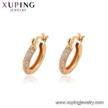 94597 Nova moda ouro moda feminina jóias zircão micro pavimentou brincos de argola para venda
