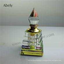 Bouteilles de parfum en cristal pour l'huile essentielle
