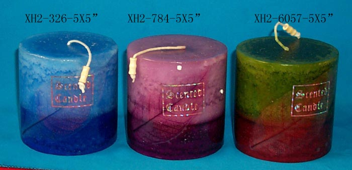 Bright harmless fireplace craft candle