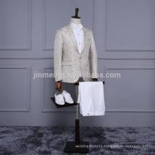 New Arrival One Button Gold Men Suits in storck Cheap sale Men pants