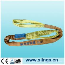 Double Sling 100% Polyester Sling Round avec facteur de sécurité 7: 1