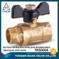 1 inch forged brass ball valve with cock blasting female threaded connection CE certificate with brass body in TMOK