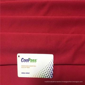 Tissu à tricoter à séchage rapide à transfert d'humidité en polyester