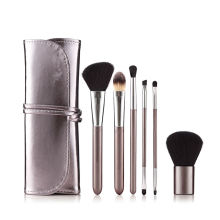 Ensemble de 6 pinceaux de maquillage cosmétiques de voyage Vegan Professional