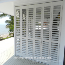 new design Europe exterior aluminum shutter in white matching bi-fold and sliding window