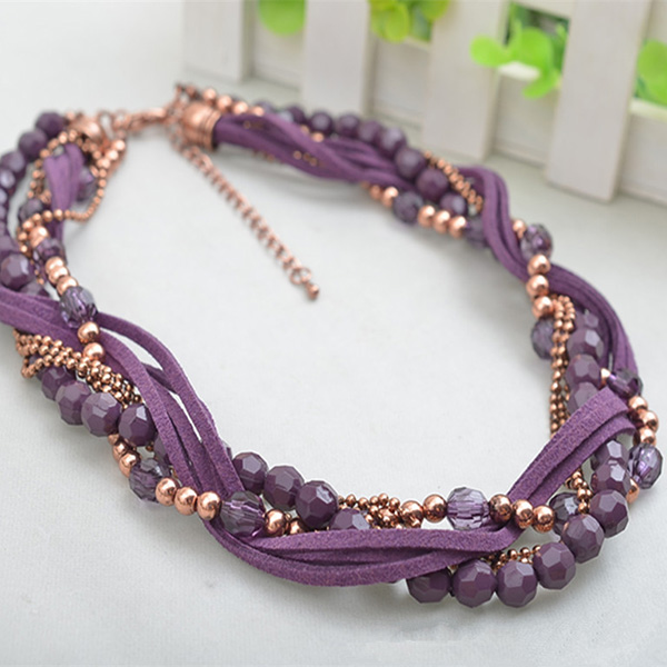 Handmade Crystal Beads Necklace