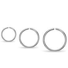 ASTM F136 Titanium Continuous Seamless Ring Nose Clip