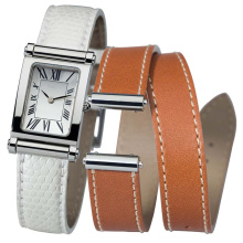Fashion Lady Watch with Rectangle White Dial