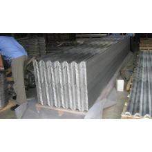 Folha de azulejos de alumínio revestida de cor para cobertura