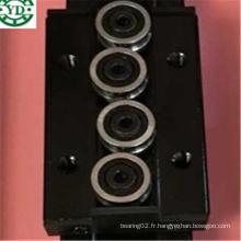 Quatre Roue 80mm Longueur Trois Roue 44mm Largeur Noir Double Axe Guide Bloc Sgb15nuu