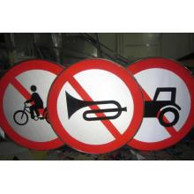 Placa de sinal de estrada de pintura de metal sinal de tráfego direcional
