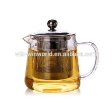 wholesale heat resistant glass teapots with stainless steel infuser 800ml