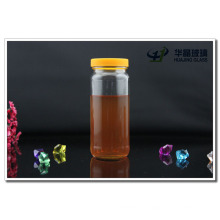 300ml 10oz Round Empty Glass Honey Jar with Yellow Cap