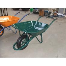 Carrinho de mão de construção verde Wb6400