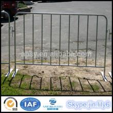 Barrière de contrôle de foule en acier galvanisé barrières de contrôle de foule de concert