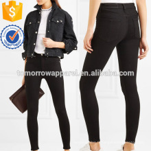 Jeans skinny taille haute Fabrication en gros de mode femmes vêtements (TA3063P)