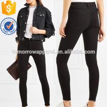 High-rise skinny jeans Fabricação Atacado Moda Feminina Vestuário (TA3063P)