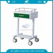 AG-GS007 electro coating paint green cart medical with silent wheels