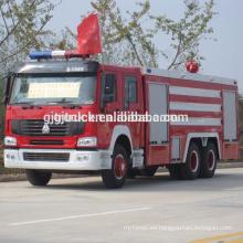 6 * 4 unidad SINOTRUK HOWO camión de bomberos de espuma / HOWO camión de bomberos de agua / HOWO camión de bomberos / HOWO agua tanque de extinción de incendios / camión de bomberos