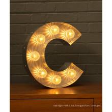 Fábrica directa de bulbo iluminado signos de letras