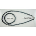 6MM Hematite Facet Round Beads Jewelry Set