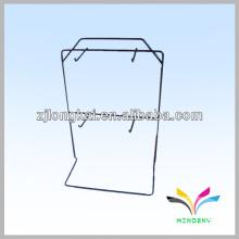 2 tiers 4 pegs black powder coated metal wire supermarket mall fashion jewelry display shelf