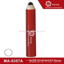 Fancy lápiz forma cosméticos vacío tubo de rímel con cepillo