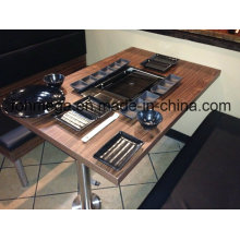 Hot Pot Restaurant Korean Barbeque BBQ Table with Grill