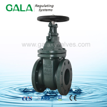 DIN F4 NRS metal seal pipeline gate valve gg25 , gate valves flanged