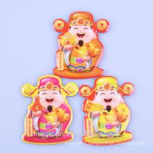 2015 custom Chinese good luck fairy style epoxy fridge magnet