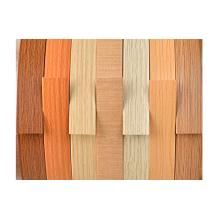 Serie de grano de madera con bandas de borde de PVC