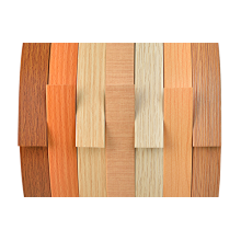 Série de grain de bois de baguage de bord de PVC