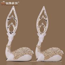 Maison de haute qualité décorée élégante sculpture de cerf réaliste