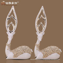 small deer figurines sitting small cute deer figure polyresin deer figurine