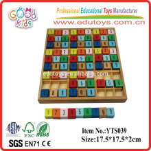 Colorful number board for kids wooden brain games in wooden toys