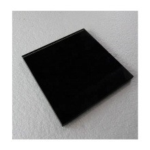 5mm colorful and durable back black painted glass top panel price for kitchen cabinet door