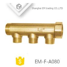 """EM-F-A080 3/4 """"união masculina bronze de 3 vias coletor de água de cobre"""
