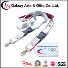 Fashion Satin Ribbon Lanyard Custom Logo