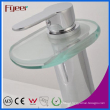 Fyeer Glass Bathroom Waterfall Basin Faucet (QH0802)