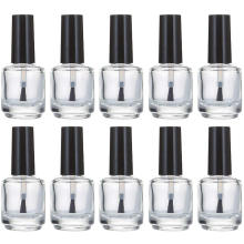 custom private label clear empty 5ml 8ml 10ml 15ml empty nail polish glass bottle with brush