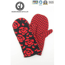 Good Quality Fashion Winter Acrylic Warmer Rose Flower Knitted Glove