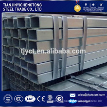q345b galvanized square steel pipe tube cold rolled galvanized steel pipe
