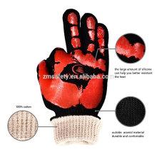 Mitaines isolantes à hautes températures de four de TE03, gants chauds de BBQ de gril résistant à la chaleur de 932F pour la cuisine