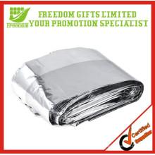 Cobertores térmicos personalizados da emergência do salvamento da sobrevivência da folha