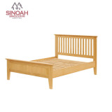 Solid Oak Wooden Bed/ Wooden 4'6 Bed