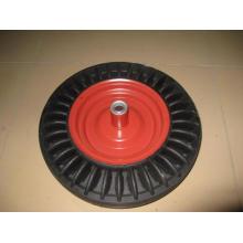 Использование твердых колесо 16 дюймов для тачку