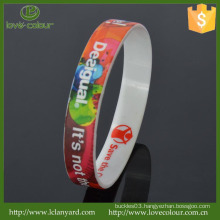 Custom Cheap 100% Silicone Souvenirs Wristband/Silicone Printed Band