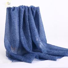 2021 New design  cashmere Premium 11MM Blue 60%SILK 40% NYLON Chinese Silk Brocade blend Fabric
