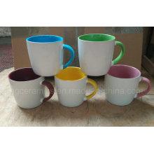 13oz tazas de cerámica, taza de café de 3 tonos